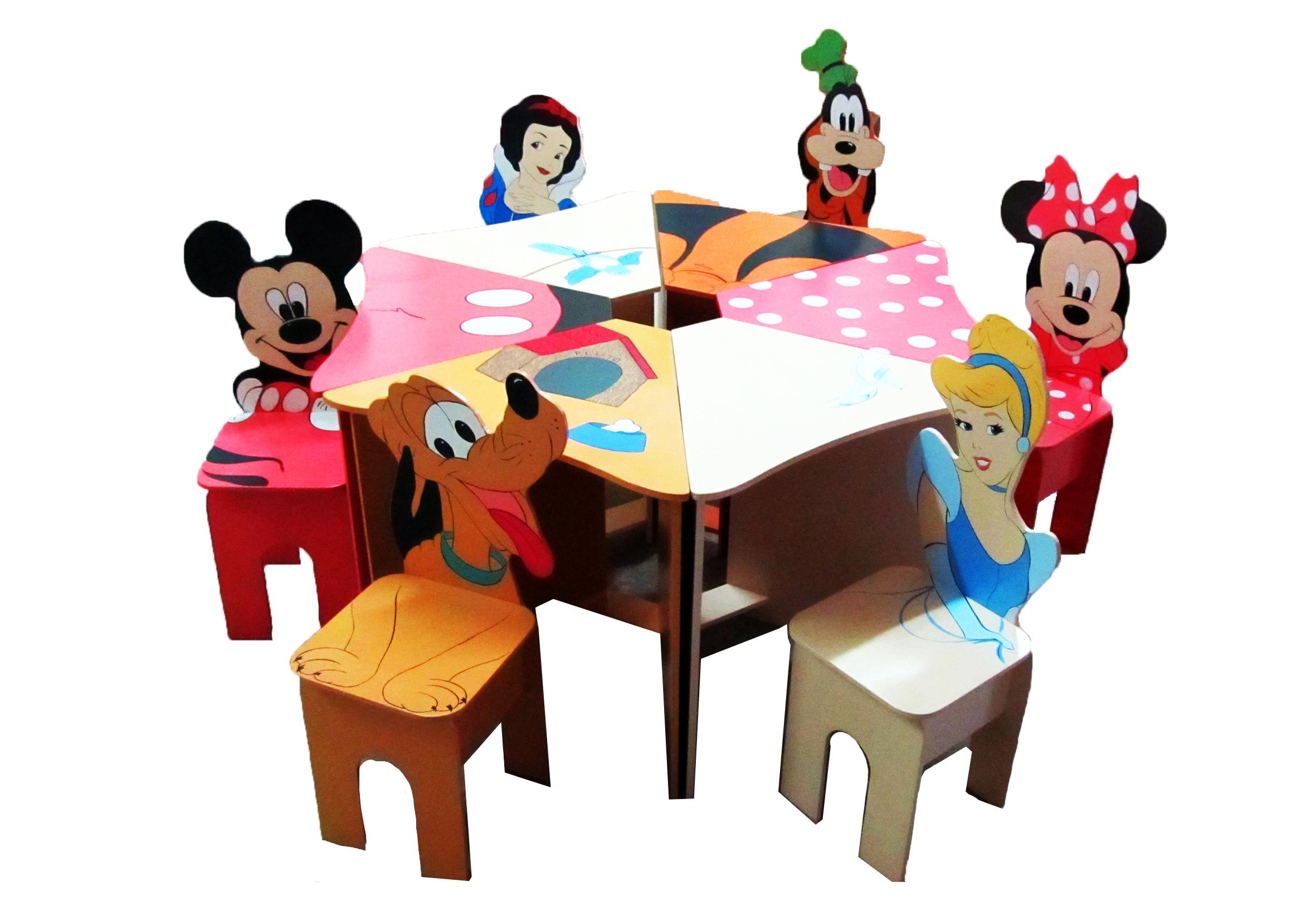 Столы и стулья. Серия герои мультфильмов